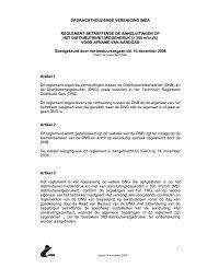 reglement voor aansluitingen aardgas - middendruk - Imea