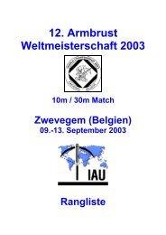 12. Armbrust Weltmeisterschaft 2003 - ZKAV