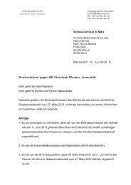 Vertraulich/per E-Mail Immunitätskommission ... - Christoph Blocher