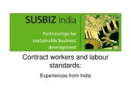 Contract workers and labour standards: