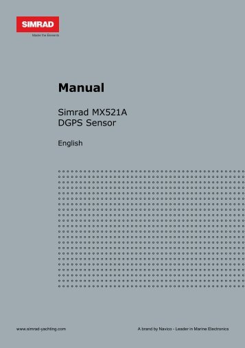 Simrad MX521A Manual English - Simrad Professional Series ...