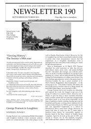 NEWSLETTER 190 - Theydon Bois Village Web Site