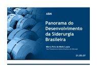 Panorama do Desenvolvimento da Siderurgia Brasileira - ABM