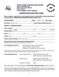 2004 Camp Registration Form - Chebucto Community Net