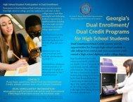 Dual Enrollment brochure - Chattahoochee Technical College