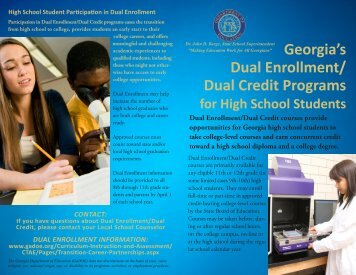 Dual Enrollment brochure - Chattahoochee Technical College