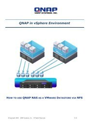 How to use QNAP NAS as a Vmware Datastore via NFS