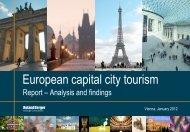 European capital city tourism