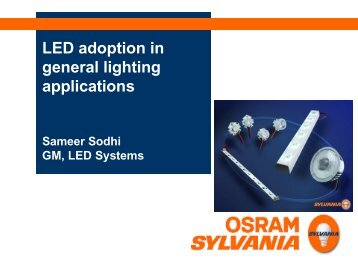 LED adoption in general lighting applications