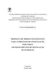 PROPOSTA DE MODELO MATEMÁTICO PARA O ... - PPGEM