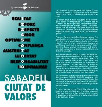 Pacte dels Valors de la Convivència - Ajuntament de Sabadell