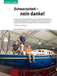 Handwerk Magazin 10/2013 - Dr. Gaupp & Coll.