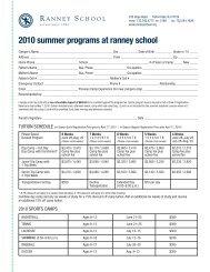 2010 summer programs at ranney school