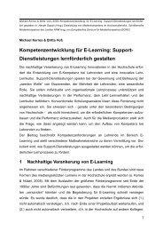 Kompetenzentwicklung für E-Learning - an der Universität Duisburg ...