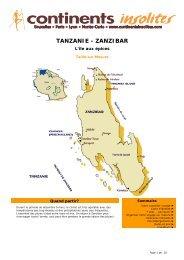 TANZANIE - ZANZIBAR - Continents Insolites