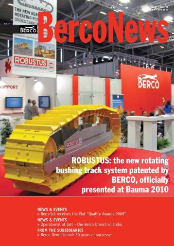 ROBUSTUS: the new rotating bushing track system ... - Berco S.p.A