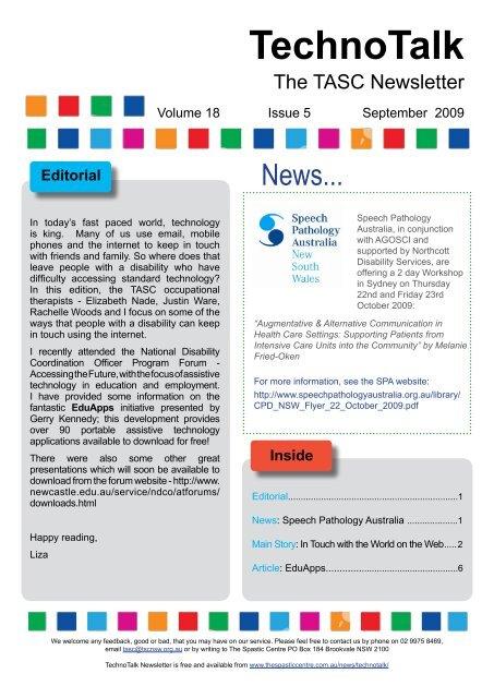 Technotalk - September 2009 - Cerebral Palsy Alliance