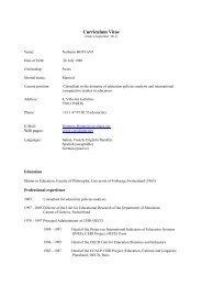 Curriculum Vitae - Norberto Bottani Website