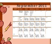 schedules for vaccine administration for September and October 2011