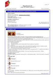 Bezpečnostní list - Peter Kwasny GmbH