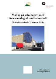 Måling på solcellegavl med forvarmning af ventilationsluft