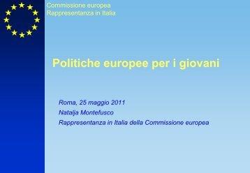 Politiche europee per i giovani - Agenzia Nazionale per i Giovani