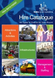 Hire Catalogue - Links Event Solutions