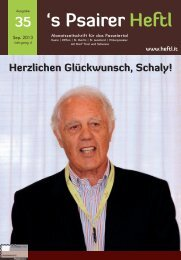 "Karl ""Schaly"" Pichler - Psairer Heftl"