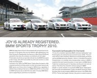 joy is already registered. bmw sports trophy 2010. - BMW Motorsport