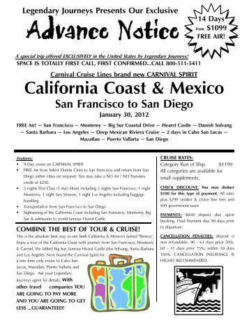 01 30 2012 Carnival Spirit Cali - Legendary Journeys