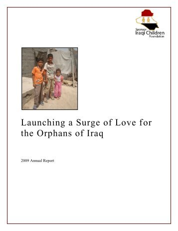Launching a Surge of Love for the Orphans - Sponsor Iraqi Children ...