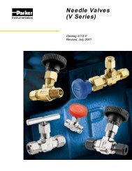 Needle Valves (V Series) - Technical Controls