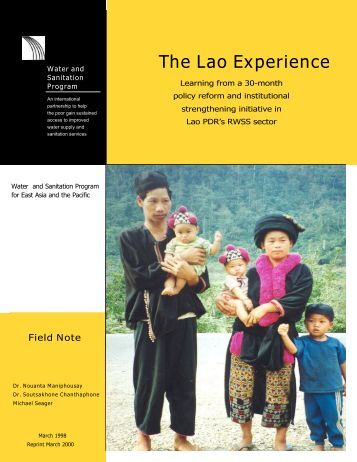 Lao Experience: Learning from a 30 month policy - WSP