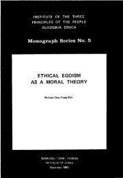 Monograph Series No. 5 - Academia Sinica