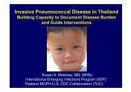Invasive Pneumococcal Disease in Thailand