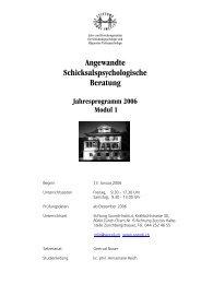 Angewandte Schicksalspsychologische Beratung - Szondi-Institut