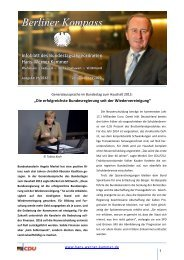 Berliner Kompass 19 2012 - Hans-Werner Kammer