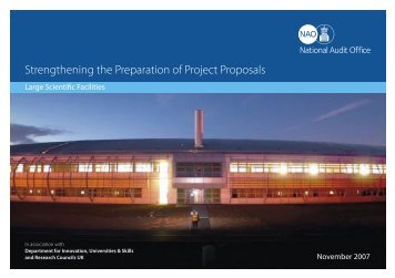 Large Scientific Facilities - National Audit Office