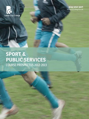 Sport & public ServiceS - Leeds City College