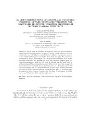 on limit distributions of normalized truncated variation, upward ...