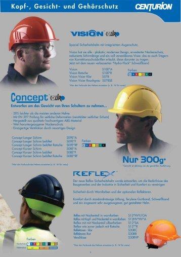 Kopf-, Gesicht- und Gehörschutz - PSA VERTRIEB