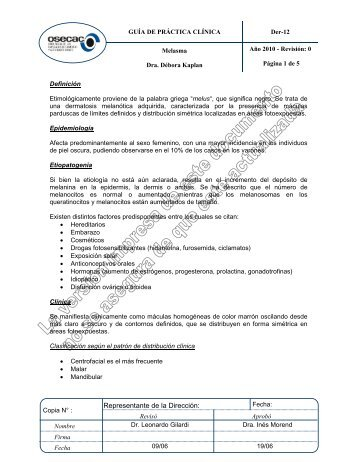 tratamiento de melasma pdf