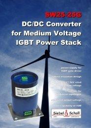 SW25-25G DC/DC Converter for Medium Voltage IGBT Power Stack
