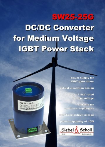 SW25-25G DC/DC Converter for Medium Voltage IGBT Power Stack