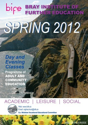 VEC 2012 Spring programme - Bray Institute of Further Education