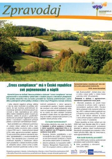 """""""Cross compliance"""" má v České republice své ... - Bioinstitut, o.p.s."""
