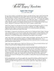 Apple Cider Vinegar - Herbal Legacy