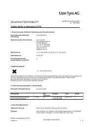 Sicherheitsdatenblatt Härter zu Sempacol 2 K PU - UZIN