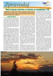 2/2011 - Možné dopady měnícího se klimatu na zemědělství v ČR
