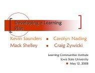 Developing an Assessment Plan - Learning Communities - Iowa ...
